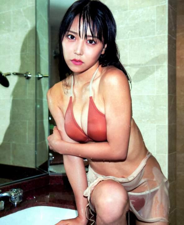 エロの女神 NMB白間美瑠の濡れ巨乳
