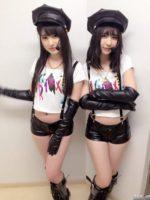 HKT48 神志那結衣と松岡菜摘の超セクシー警官コス