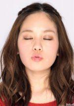 筧美和子のキス顔アップ
